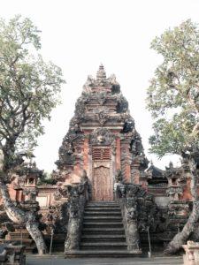 Indonesischer Tempel in Ubud auf Bali